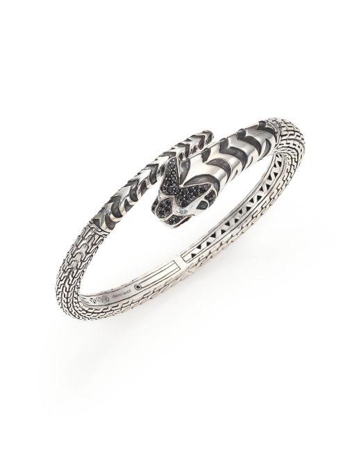 John Hardy | Metallic Legends Macan Black Sapphire Lava, Swiss Blue Topaz & Sterling Silver Cuff Bracelet | Lyst