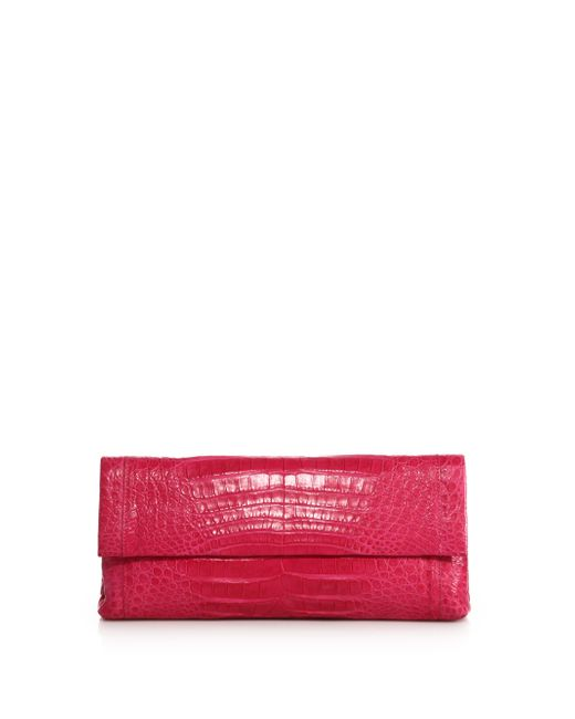 Nancy Gonzalez | Pink Gotham Crocodile Clutch | Lyst