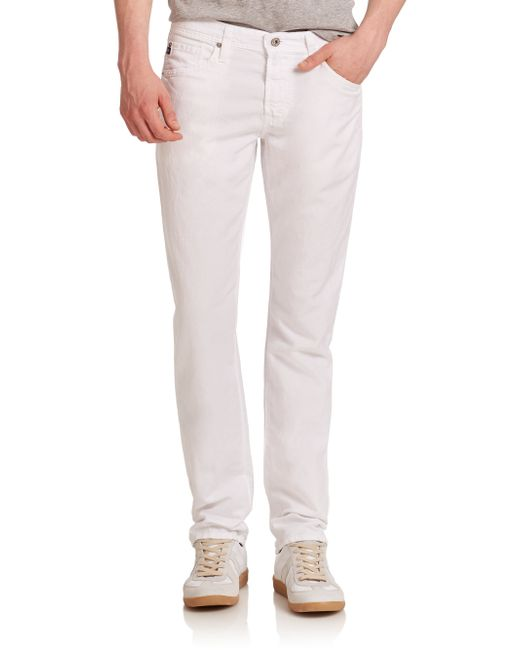 AG Jeans | White Graduate Tailored-fit Linen-blend Jeans for Men | Lyst