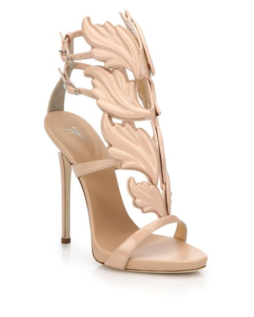 Giuseppe Zanotti | Pink Leather Wing Sandals | Lyst
