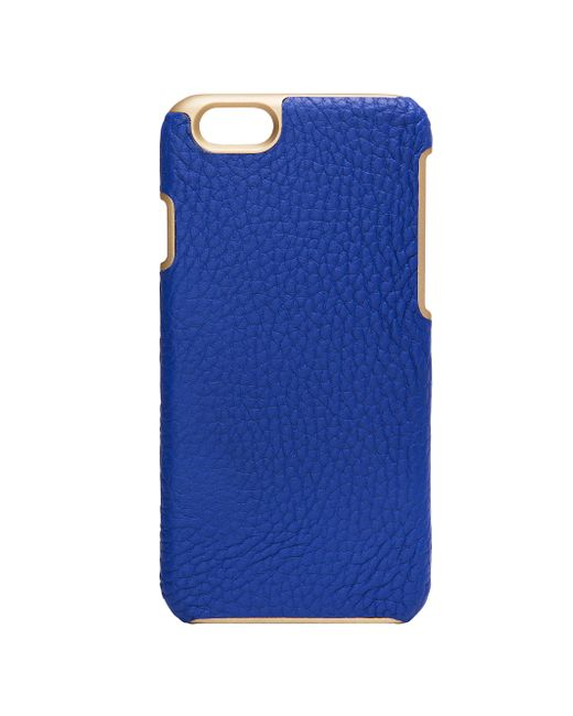 Gigi New York | Blue Pebbled Leather Iphone 6 Case | Lyst