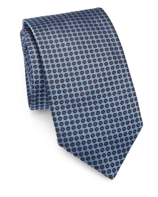 Saks Fifth Avenue | Blue Polka Dot Silk Tie for Men | Lyst