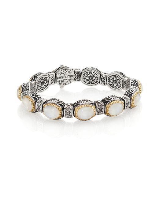 Konstantino   Metallic Erato Labradorite, 18k Yellow Gold & Sterling Silver Bracelet   Lyst