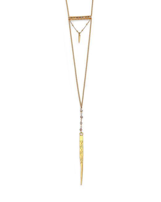 Chan Luu | Metallic Labradorite Dagger Pendant Necklace | Lyst