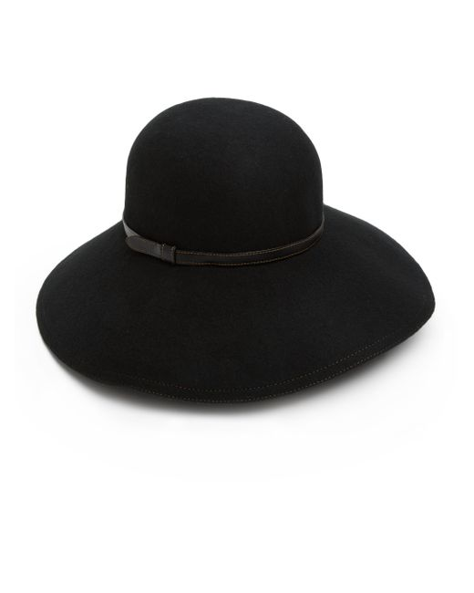 Eric Javits | Black Vicki Wool Floppy Hat | Lyst