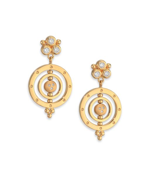 Temple St. Clair   Metallic Celestial Diamond & 18k Yellow Gold Piccolo Tolomeo Drop Earrings   Lyst