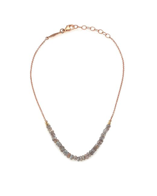 Jacquie Aiche | Pink Labradorite & 14k Rose Gold Beaded Anklet | Lyst