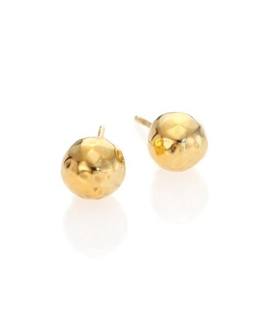 Ippolita | Metallic Glamazon 18k Yellow Gold Stud Earrings | Lyst