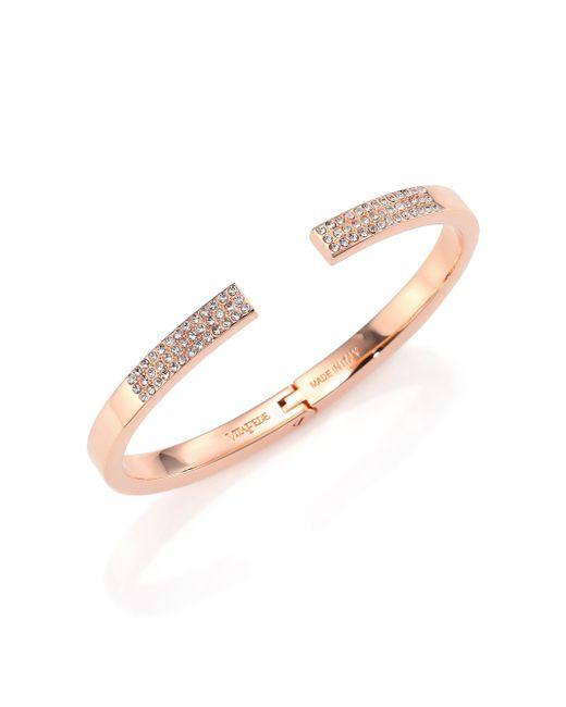 Vita Fede | Metallic Divisio Crystal Cuff Bracelet/rose Goldtone | Lyst