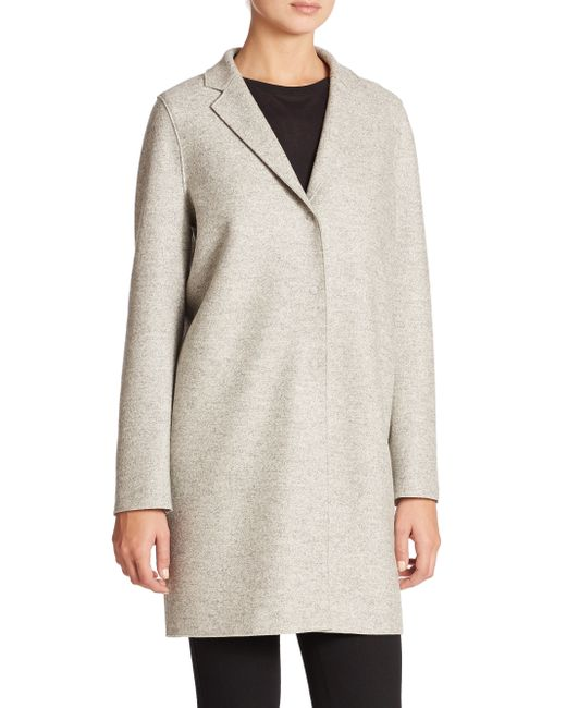 Harris Wharf London | Gray Wool Cocoon Coat | Lyst