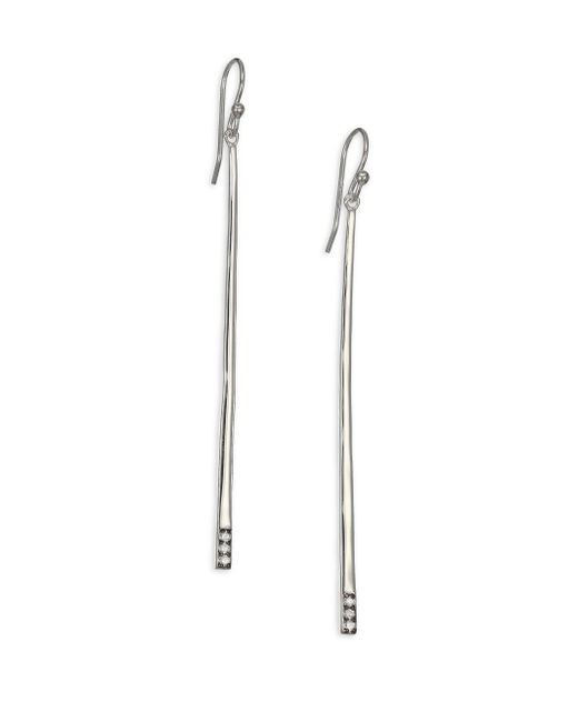 Ippolita | Metallic Glamazon Stardust Diamond & Sterling Silver Bar Drop Earrings | Lyst