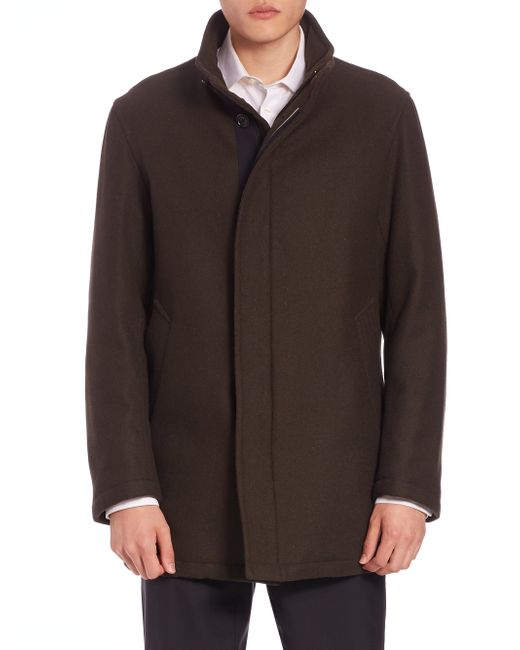 Sanyo | Green Water-repellent Wool Coat for Men | Lyst