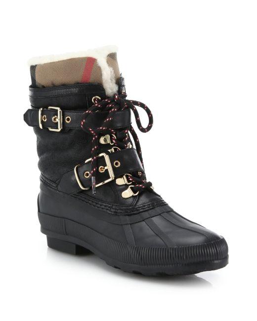 Burberry | Black 'windmere' Boot | Lyst