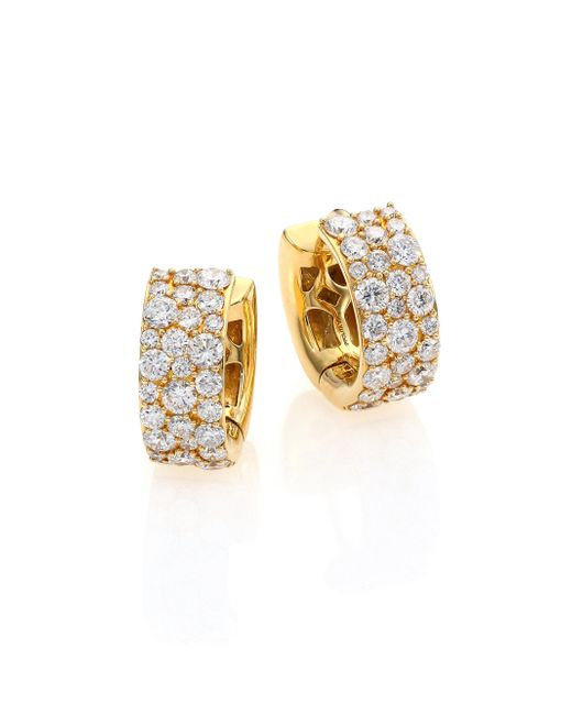 Ippolita | Metallic Glamazon Stardust Diamond & 18k Yellow Gold Huggie Hoop Earrings/0.55 | Lyst
