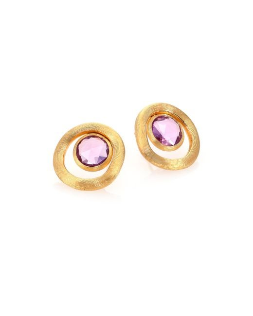 Marco Bicego | Metallic Jaipur Color Amethyst & 18k Yellow Gold Stud Earrings | Lyst