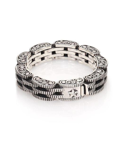 King Baby Studio | Metallic Sterling Silver Rotor Link Bracelet for Men | Lyst