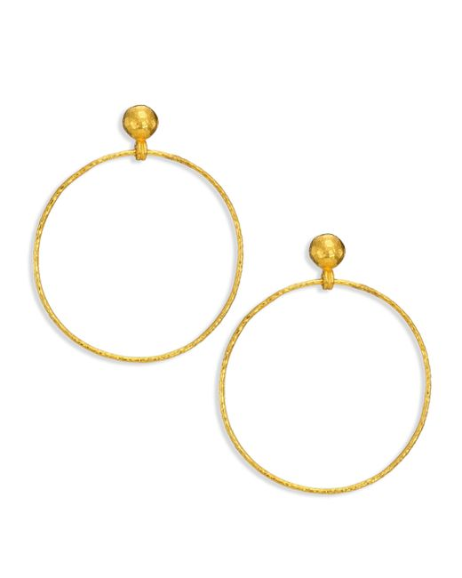 Gurhan | Metallic Hoopla 24k Yellow Gold Geo Drop Hoop Earrings | Lyst
