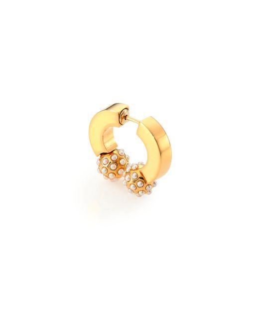 Chloé   Metallic Darcey Faux Pearl Sphere Single Earring   Lyst