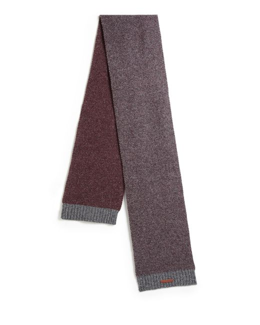 Bickley + Mitchell | Red Lambswool Mixed Pattern Scarf for Men | Lyst