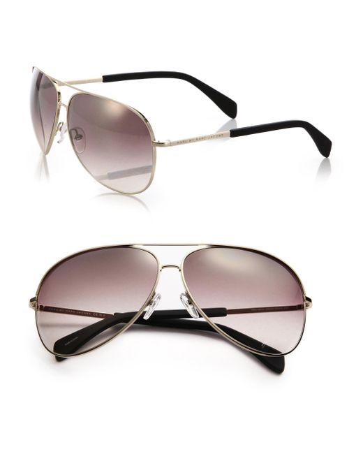 Marc By Marc Jacobs | Metallic Gradient 63mm Aviator Sunglasses | Lyst