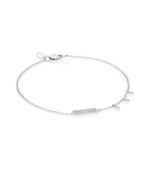 Meira T   Metallic Diamond & 14k White Gold Bar Bracelet   Lyst