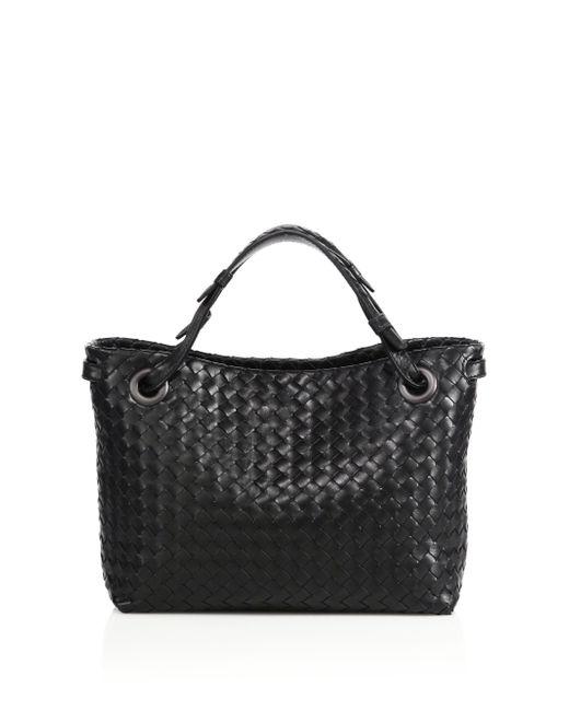 Bottega Veneta   Black Montebello Small Intrecciato Leather Tote   Lyst