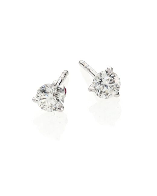 Roberto Coin | Diamond & 18k White Gold Stud Earrings/0.5 Tcw | Lyst