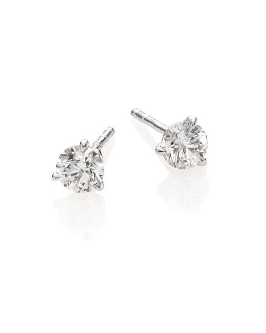 Roberto Coin | Diamond & 18k White Gold Stud Earrings/0.75 Tcw | Lyst