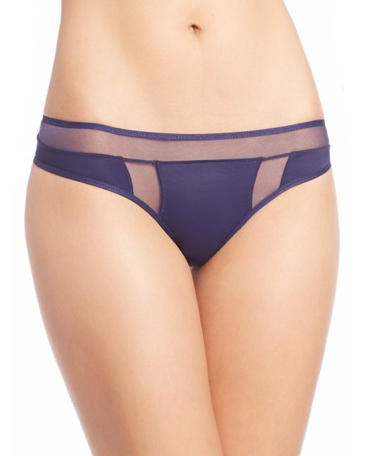 Addiction Nouvelle Lingerie | Blue Nouvelle Basic Tanga | Lyst