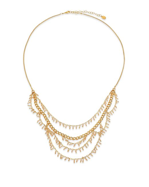 Chan Luu | Metallic Crystal Charm Draped Multi-row Necklace | Lyst