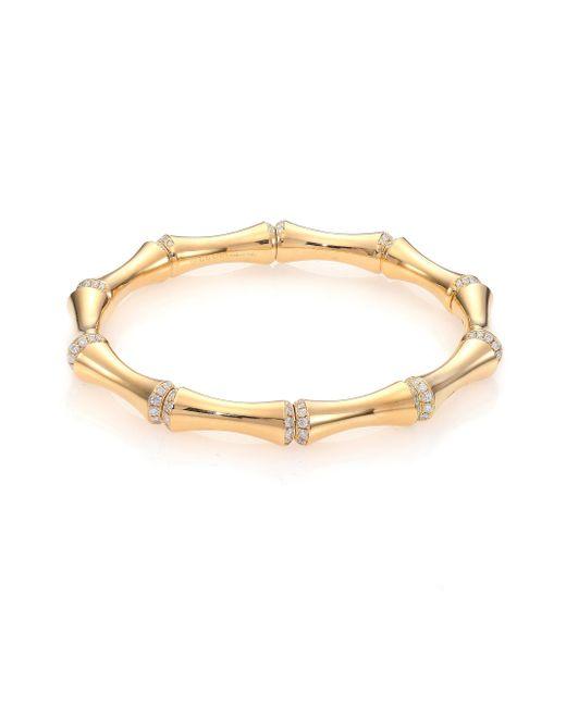 Gucci | Metallic Bamboo Medium Diamond & 18k Yellow Gold Bracelet | Lyst