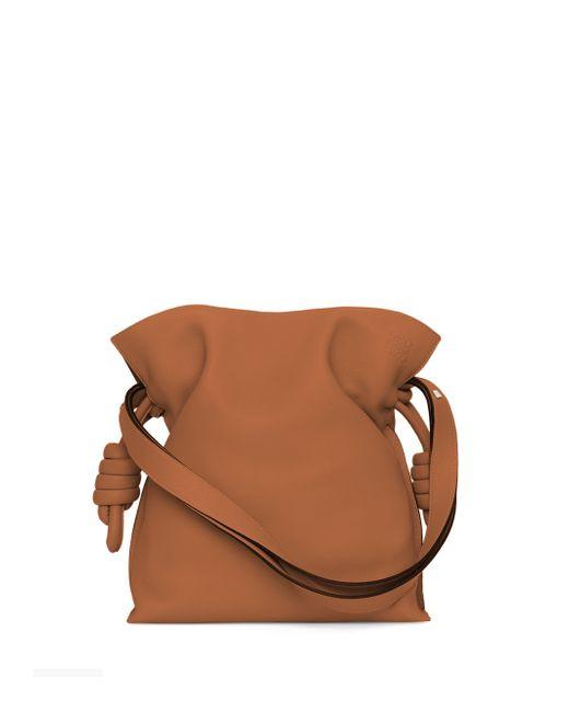 Loewe | Brown Flamenco Knot Leather Shoulder Bag | Lyst