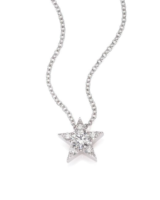 Hearts On Fire | Illa Diamond & 18k White Gold Cluster Pendant Necklace | Lyst
