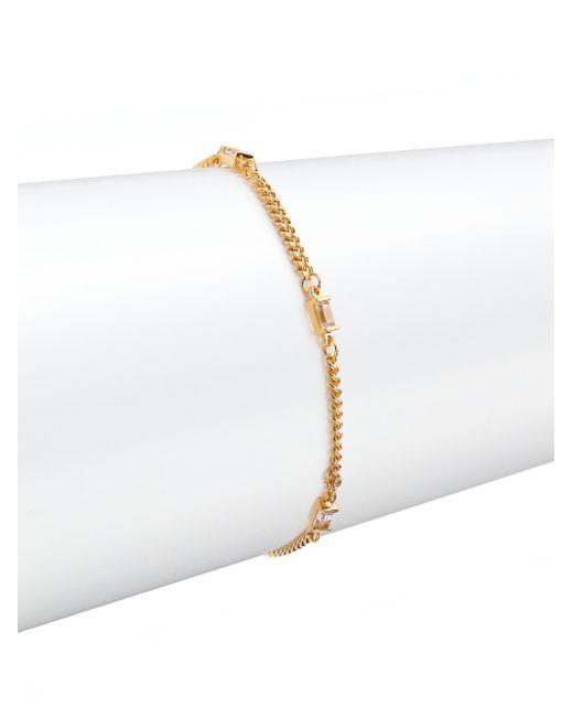 Jennifer Zeuner | Metallic Triple White Sapphire Baguette Bracelet | Lyst