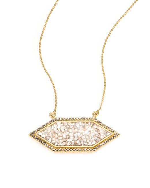 Shana Gulati | Metallic Charushila Shashi Black Diamond Pendant Necklace | Lyst