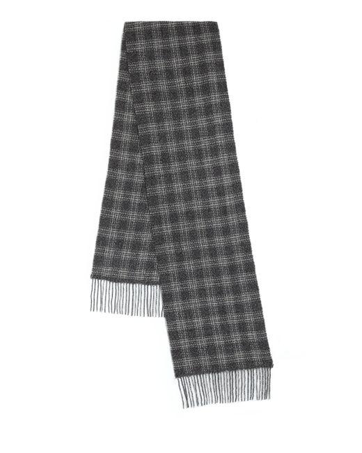 John Varvatos   Black Plaid Wool & Cashmere Scarf for Men   Lyst