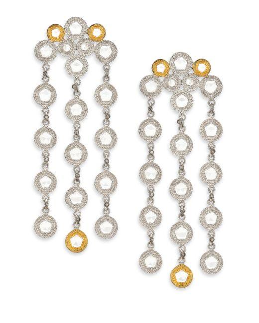 Coomi   Metallic Opera Diamond, Crystal, 20k Yellow Gold & Sterling Silver Chandelier Earrings   Lyst