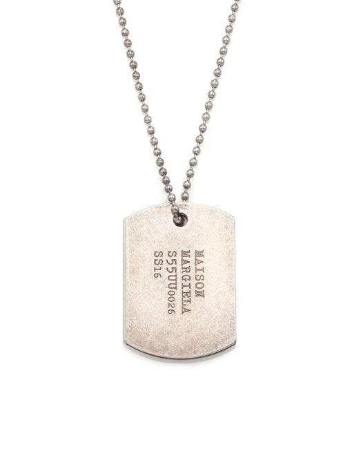 Maison Margiela   Metallic Dogtag Necklace for Men   Lyst