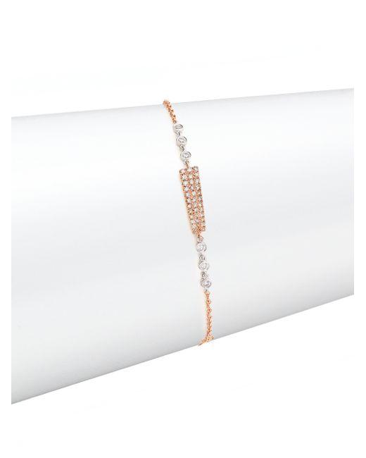 Meira T | Metallic Diamond, 14k Rose Gold & 14k White Gold Bar Bracelet | Lyst