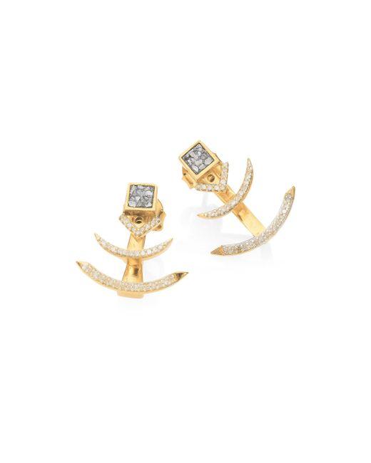 Shana Gulati | Metallic Tulum Miranda Champagne Diamond & Sliced Raw Diamond Ear Jackets | Lyst