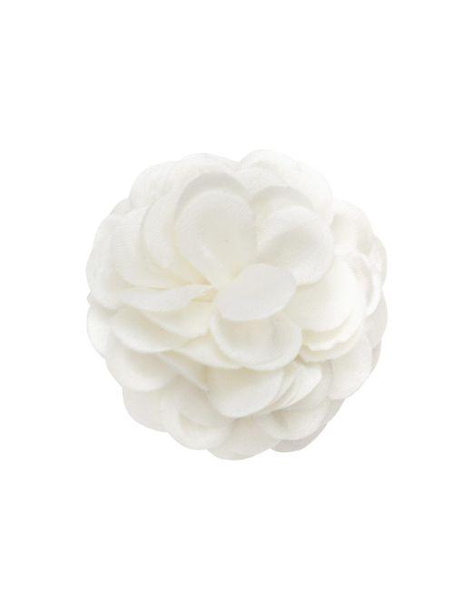 Hook + Albert | White Solid Glitter Lapel Flower | Lyst