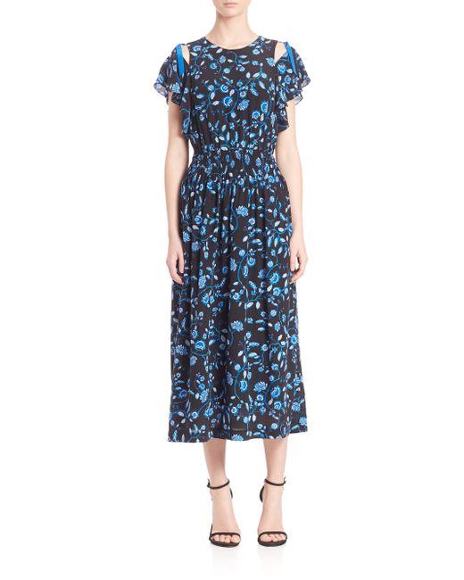 Kyoto Garden Faille Print A Line Dress By Trina Turk