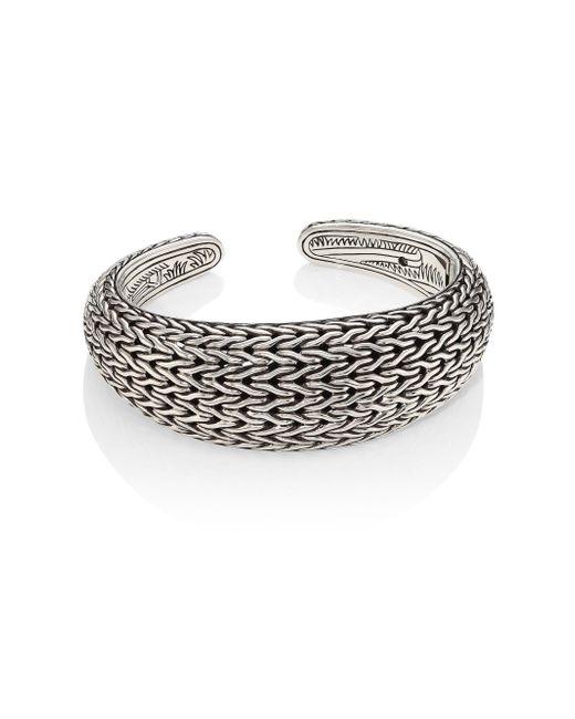 John Hardy | Metallic Classic Chain Sterling Silver Cuff Bracelet | Lyst