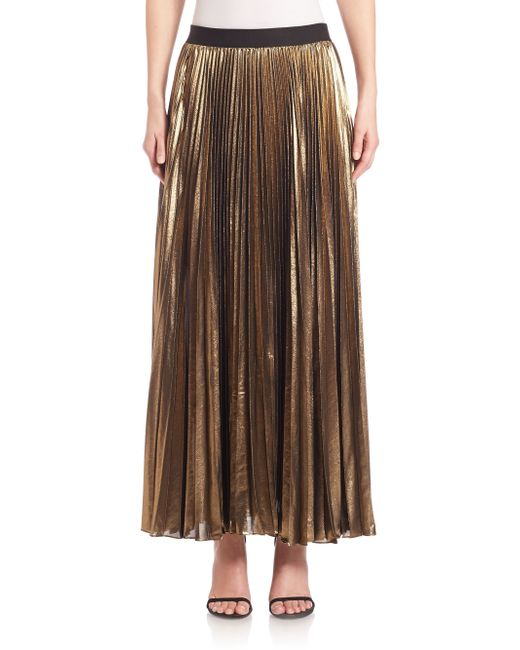bcbgmaxazria jungle dallin pleated maxi skirt in