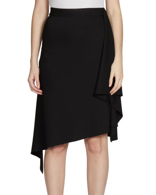 Givenchy | Black Knee Length Skirt | Lyst