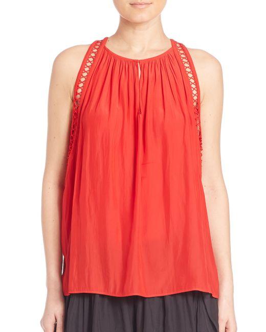 Ramy Brook | Red Sara Crochet Camisole Top | Lyst