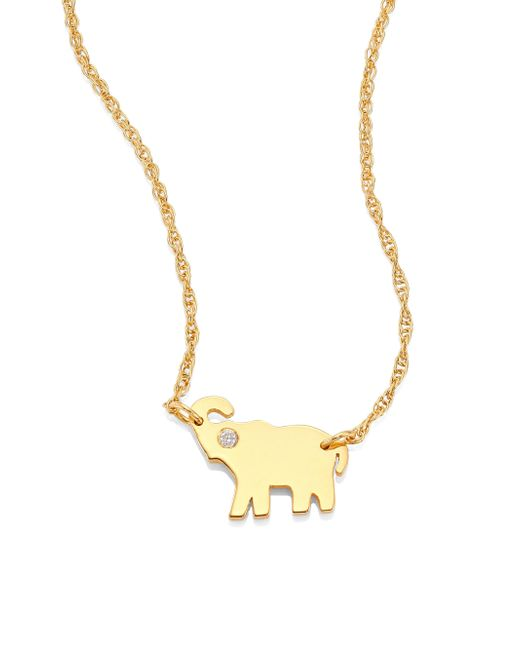 Jennifer Zeuner | Metallic Erin Elephant Diamond Pendant Necklace | Lyst