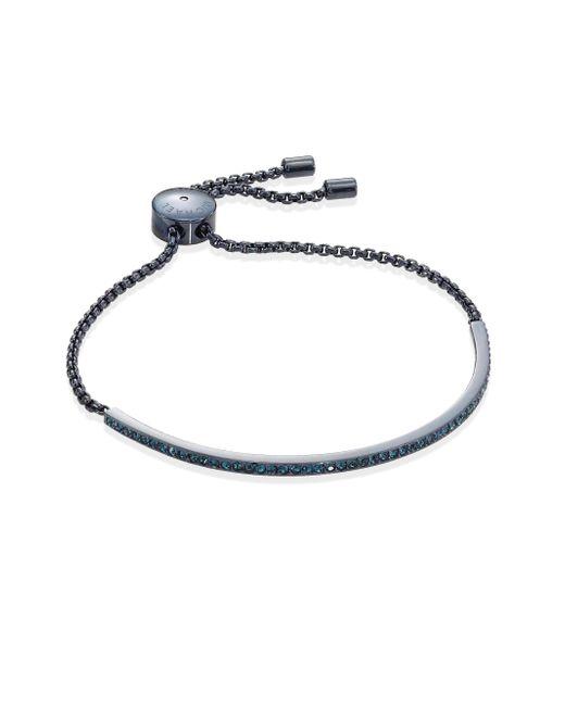 Michael Kors | Blue Sable Pave Slider Bracelet | Lyst