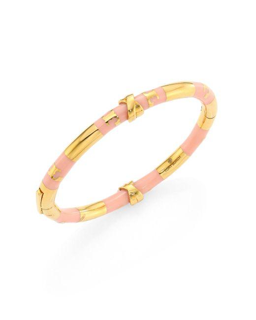 Tory Burch   Metallic Oro Stripe Bangle Bracelet   Lyst