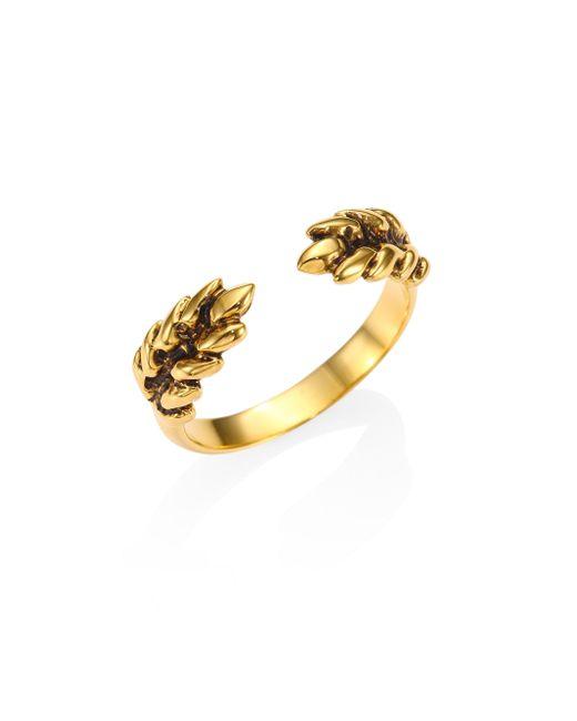 Aurelie Bidermann | Metallic Two Cobs Wheat Ring | Lyst